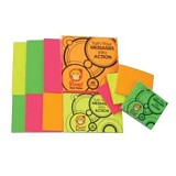 PRONTO Fluorescent [PSNF45] - Orange - 10pcs - Sticky Notes